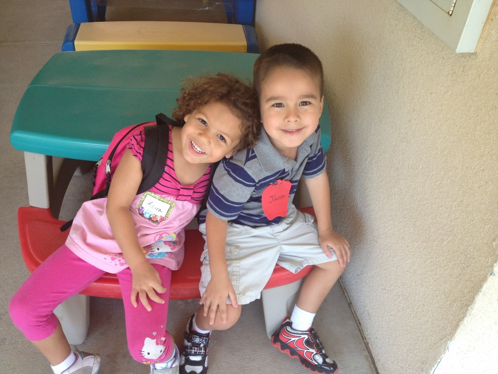 Jason and Keira's First Day of School 21 Aug 2012