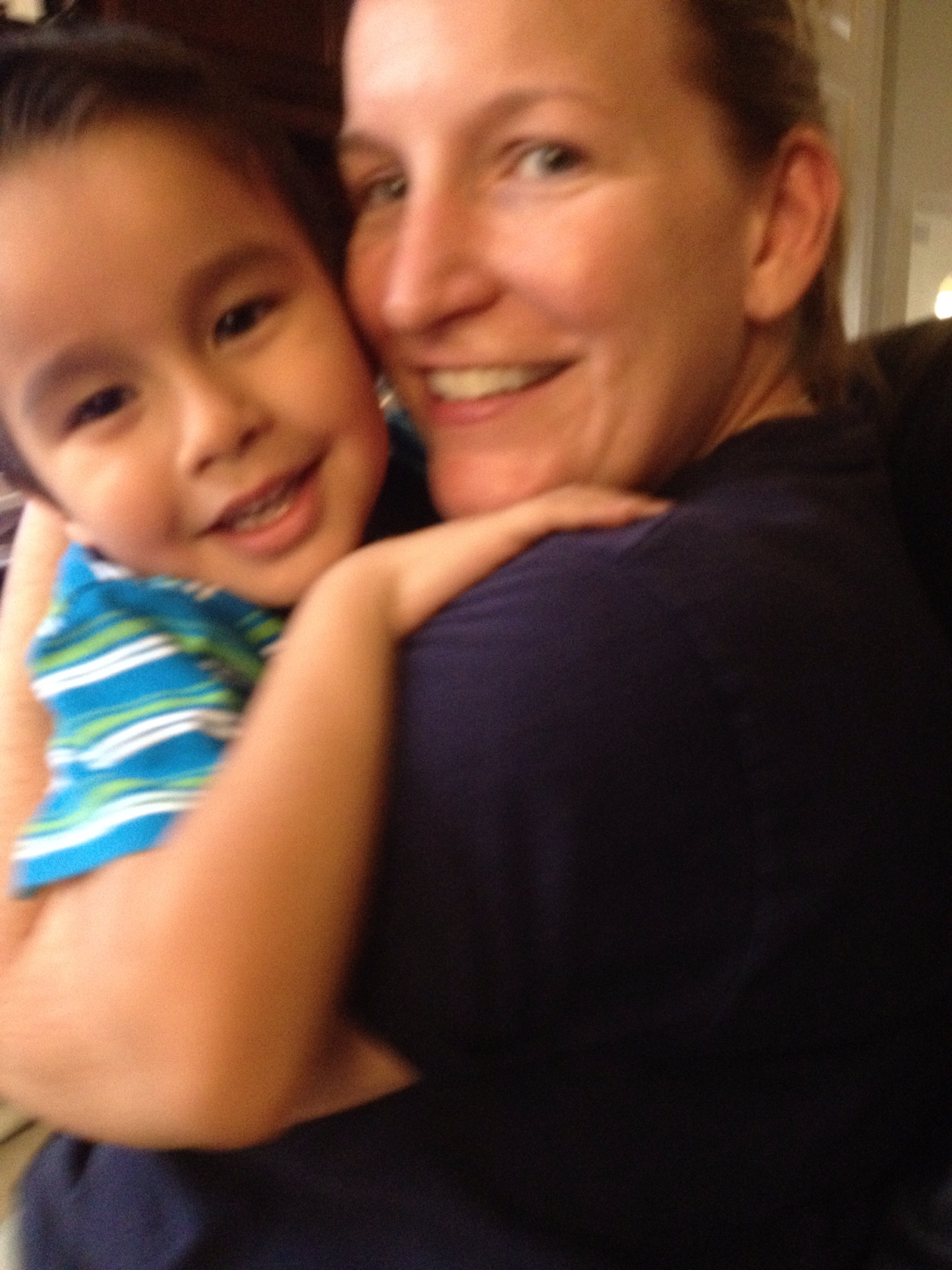 Jason and Mommy circa 1 Sept 2012